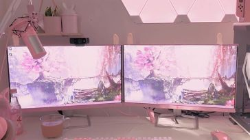 Pretty in Pink Super Themed Computer Gamer Setup