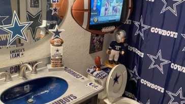 When a Cowboys a fan goes too far!