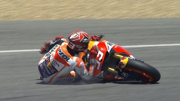Marquez fall FP4 Jerez