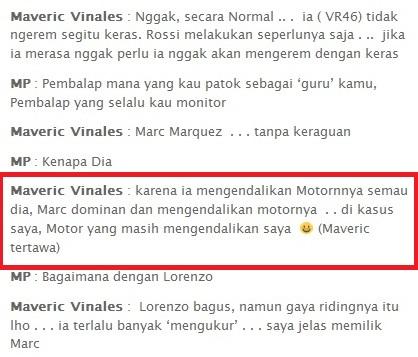 scren shhot wawancara Maveric vinales