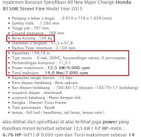 spesifikasi New Honda CB150R jpg