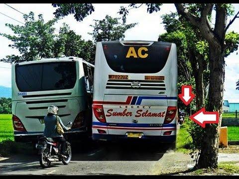 Tips membuat kaget pengendara bus