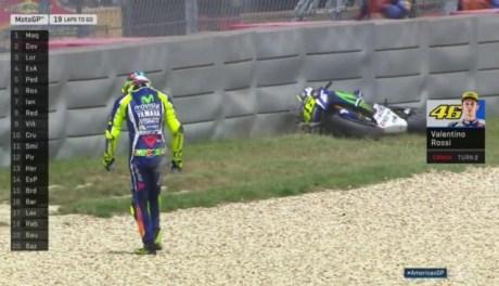 pembalap jatuh