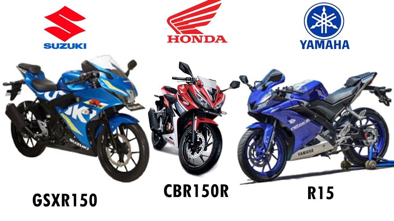 Perbandingan Harga Motor Sport Fairing 150cc Terbaru Suzuki Gsx R All New Cbr 150r Slick Black White Jakarta 150 Juara Harganya