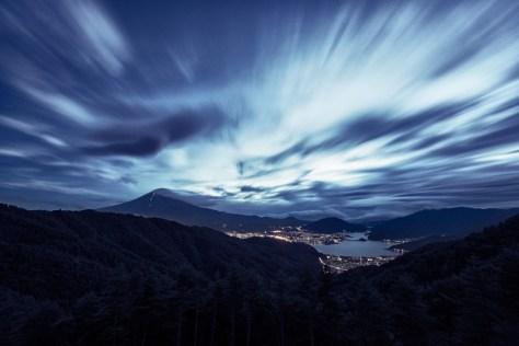 Yuga kurita Mount Fuji Long Exposure Night