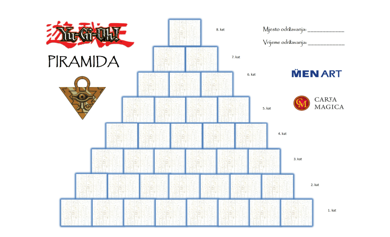 Primjer Piramide s poljima za upis igrača