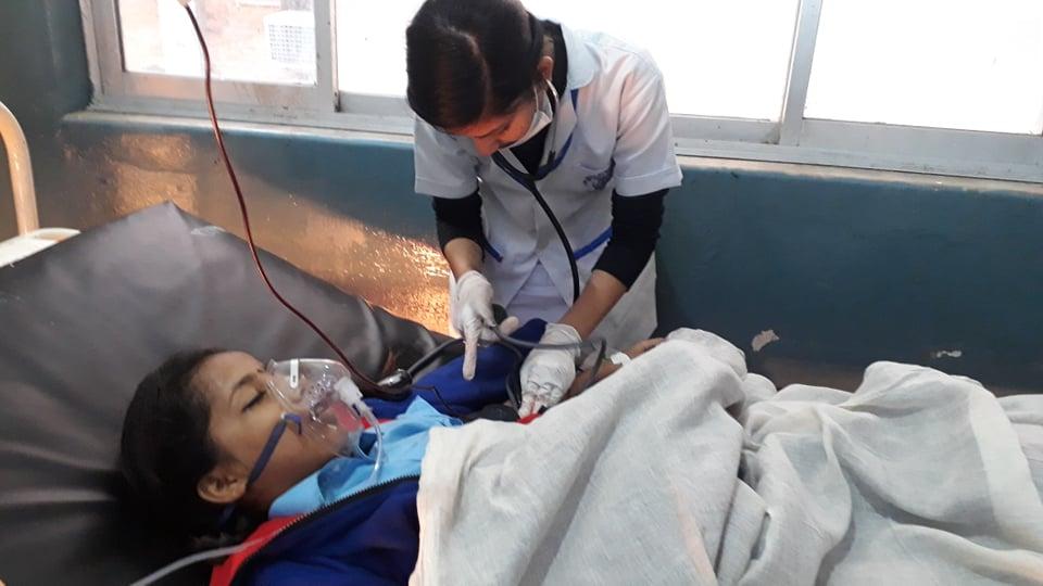 दुर्घटनामा घाईतेलाई थप उपचारकालागि काठमाण्डौं रिफर