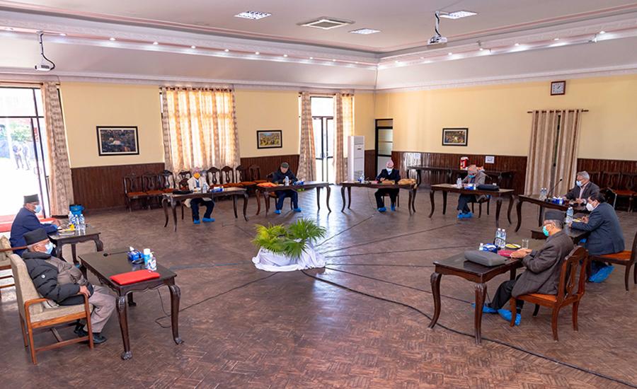 नेकपा बैठक : दुवै अध्यक्षको प्रस्ताव स्थायी कमिटीमा जाने