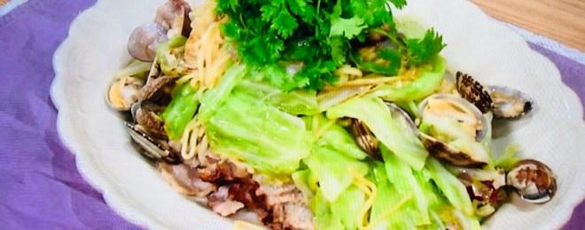 平野レミのほっぽり焼きそばおいしい貝