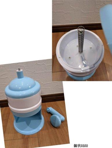 ダイソー かき氷機 ※550円(税込) ハンドルを取り付けるだけで完成