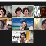 フリーアナウンサー藤井千代美と藤井奈央美によるzoom講座「オンラインで成功する3つの秘訣」の様子。コミュニケーションや声・話し方についても!