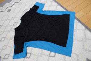 加圧Tシャツと普通のTシャツイメージ