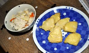 たけのこご飯と天ぷら