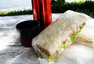 サンドイッチとアイスコーヒー
