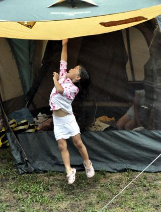 ゲリラ豪雨キャンプその2