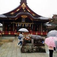 雨の岩津天満宮にお礼参りに行って参りました