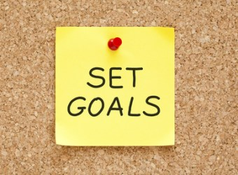 Set Goals Sticky Note
