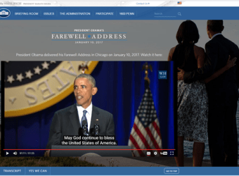 President Obama - Farewell Speech2
