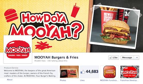 Mooyah Facebook Page