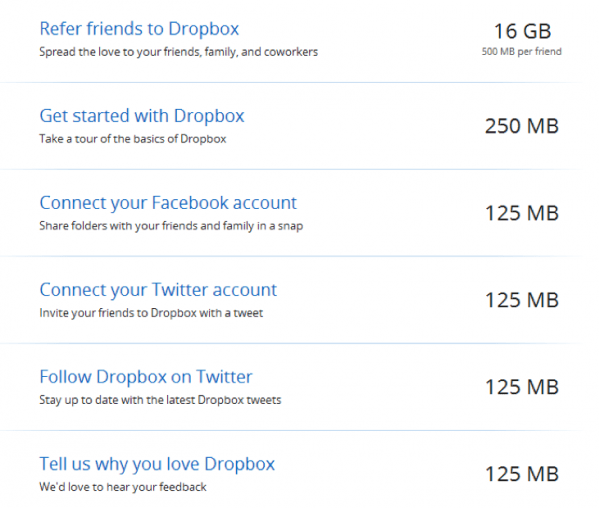 Dropbox Gamification
