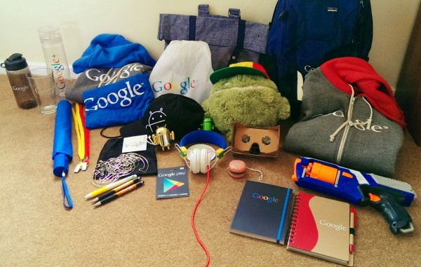 Image of Google gear showing extrinsic motivation at play as Employee Rewards