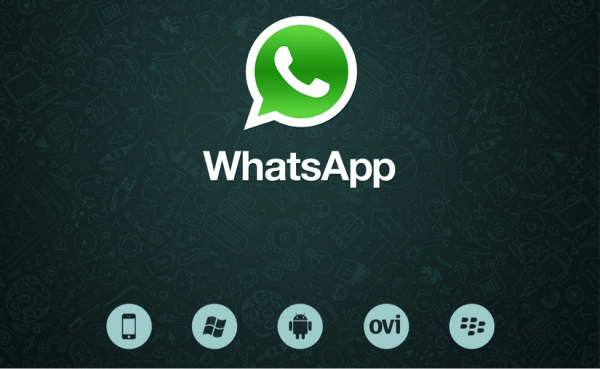 The front page and logo for WhatsApp