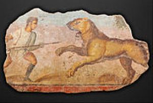 painting_from_the_amphitheatre__hunter_with_lioness_-_google_art_project