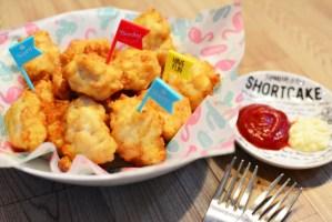 鶏むね肉と豆腐でつくるチキンナゲット♪とても柔らかくてヘルシーな簡単レシピです。