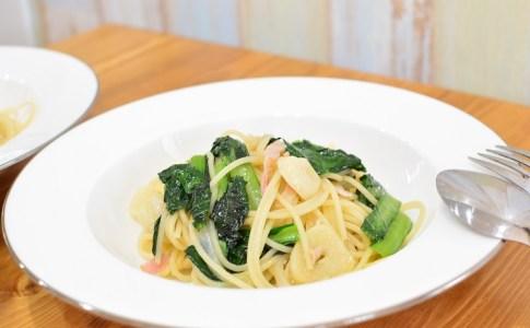 小松菜とベーコンの和風パスタの作り方♪毎日のご飯作りに疲れたときのお手軽パスタレシピ