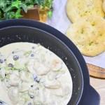 寒くなる時期にぴったり♬簡単鶏むね肉と白菜のクリーム煮のレシピ★