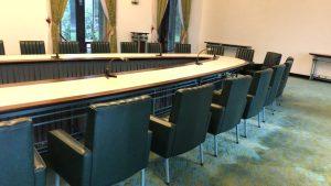 統一会堂内の会議室