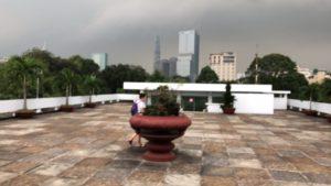 統一会堂の屋上
