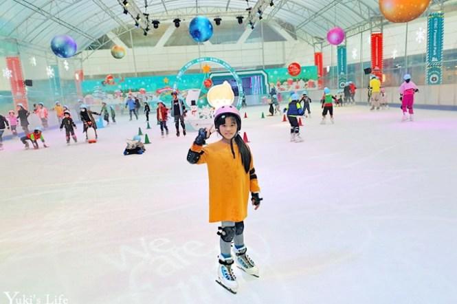 台北免費親子景點【中國信託金融園區滑冰場】最新升級版開玩!真正結冰未來冰雪城!