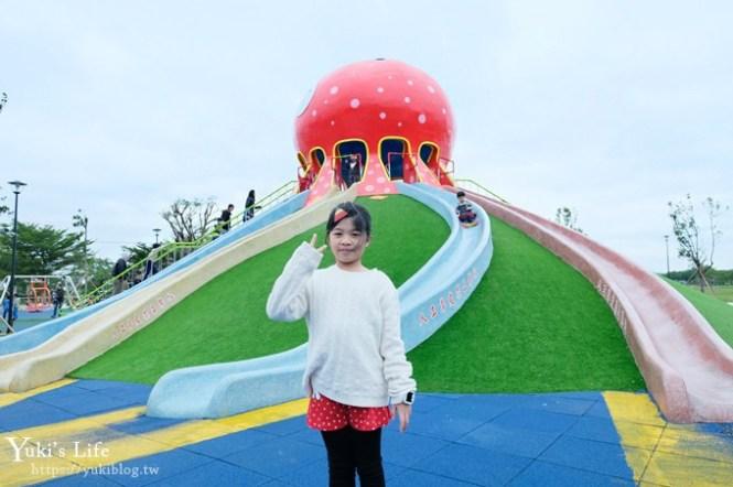 NEW苗栗景點【貓裏喵親子公園】章魚溜滑梯八爪都可以溜!扇形貝殼滑梯×超大沙坑×野餐~放假就來這裡玩