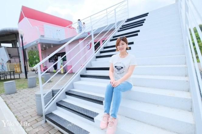嘉義必訪親子景點【旺萊山愛情大草原】粉色巨型鋼琴、貨櫃咖啡屋這裡拍!免費試吃鳳梨酥!