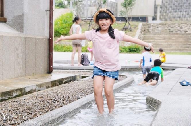 親子玩水新景點【新竹水道取水口展示館】戶外磨石子溜滑梯×戲水池×館內也有看頭!