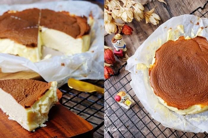 氣炸鍋食譜【巴斯克乳酪蛋糕】無粉無糖減醣食譜輕鬆做×跟凡人版一樣好吃!