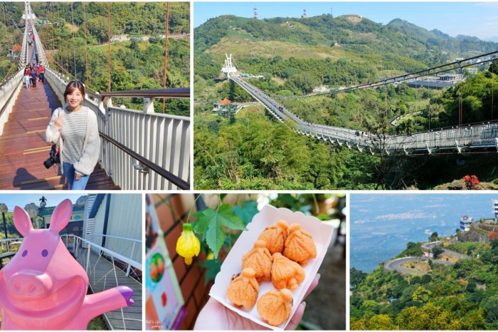 嘉義梅山景點》太平雲梯,嘉南平原美景全都收!挑戰全台最長景觀吊橋