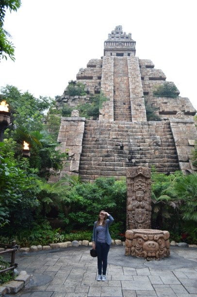 """Why not build a temple while we're at it?"" Here I am, in the Indiana Jones part of the park."