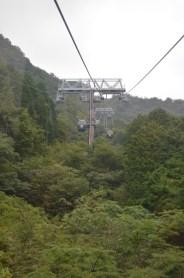 The rope way to Owakudani