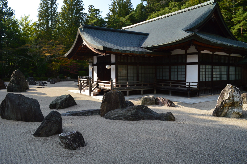 Wonderful rock garden at Kongobuji Temple