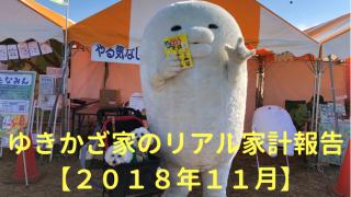 ゆきかざ家のリアル家計報告【2018年11月】 アイキャッチ