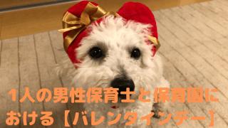 1人の男性保育士と保育園における【バレンタインデー】 アイキャッチ