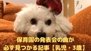 保育園の発表会の曲が 必ず見つかる記事【乳児・3歳】 アイキャッチ