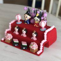 【100均セリア♪ひな祭りグッズ2018】をご紹介♪可愛い小さな人形やぼんぼり、桜模様の飾りでオリジナルひな人形をお子様と工作してみてはいかが???