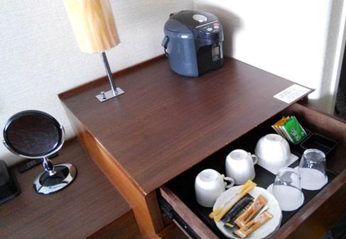 ニセコスキー場 ノーザンリゾート・アンヌプリ ホテル 口コミ お部屋 ポット お茶 コーヒー