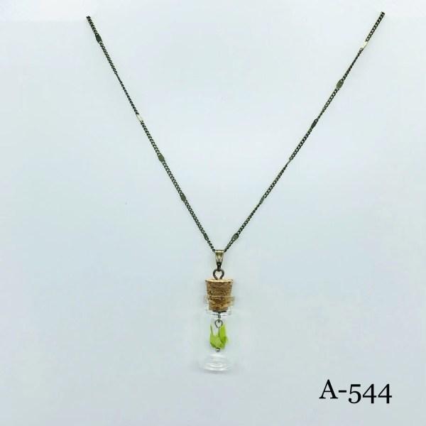 origami-Kranich Halskette Grün A-544