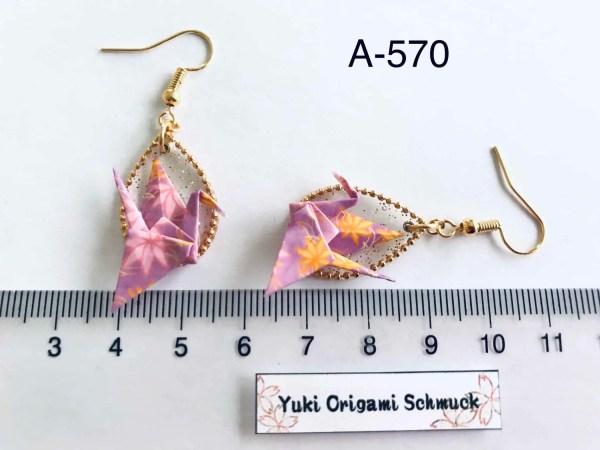Origami Kranich Ohrringe a-570