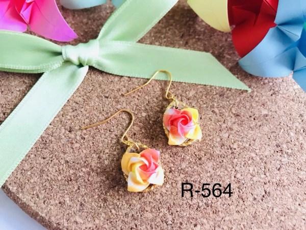 R-564 (1Rosen origami Ohrringe