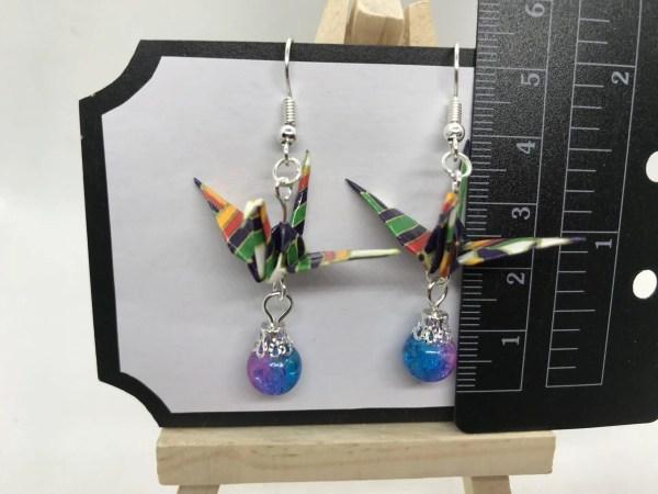 Kranich Ohrringe Handarbeit von Japanerin und Designerin